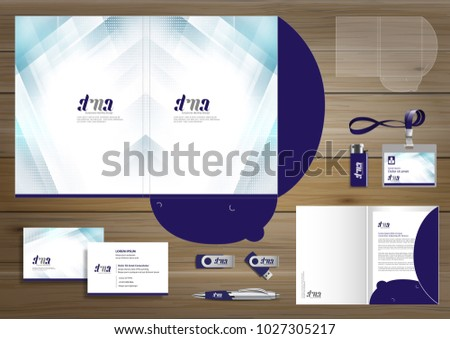 Vector abstract colorful Beauty Folder Stationery presentation corporate identity template design, business Color promotional souvenirs elements. link digital technology set,
