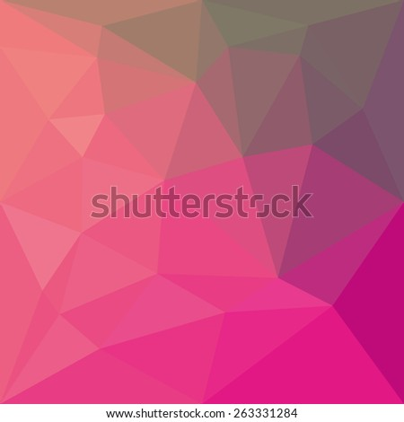 Vector Abstract colorful low poly geometric background. Template brochure design - stock vector