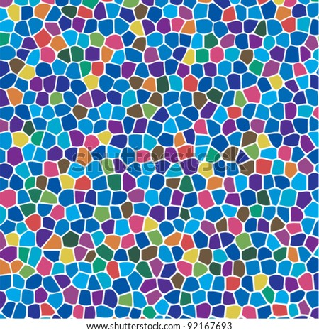 vector abstract colorful mosaic background - stock vector