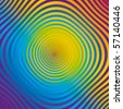 Vector abstract colorful spiral op-art - stock vector