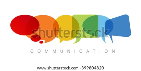 Vector abstract Communication concept illustration - stock vector