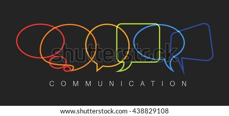 Vector abstract Communication concept illustration - dark communication version - stock vector