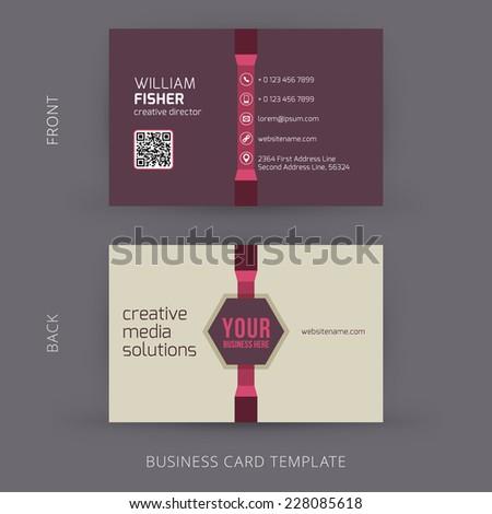 Vector abstract creative business card design template. - stock vector