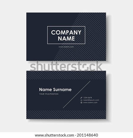 vector abstract creative business card design template of black minimalistic - stock vector