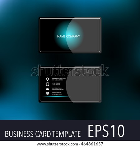 Vector abstract creative business cards. Set template