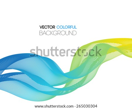 Vector Abstract curved lines background. Template design - stock vector