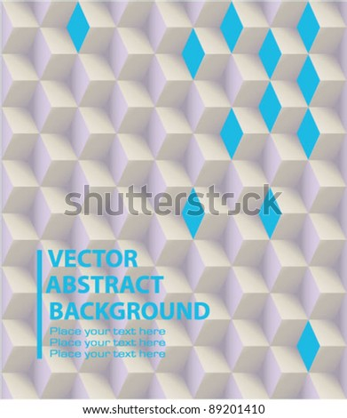 Vector abstract 3d blocks background - stock vector