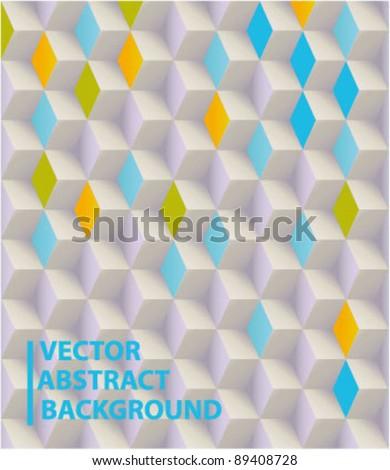 Vector abstract 3d blocks background - stock vector