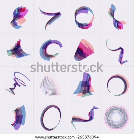 Vector abstract 3d business logo set for your design.EPS10 - stock vector