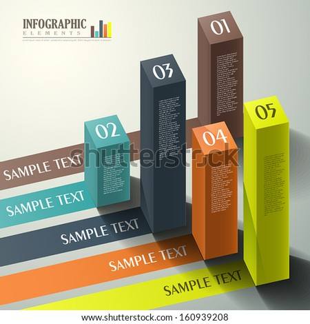vector abstract 3d cube infographic elements - stock vector