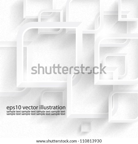 Vector abstract 3D geometrical background design - eps10 - stock vector