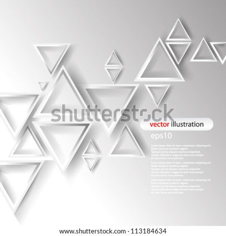 Vector abstract 3D Geometrical concept illustration - eps10 - stock vector