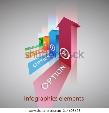 vector abstract 3d  infographic elements - stock vector