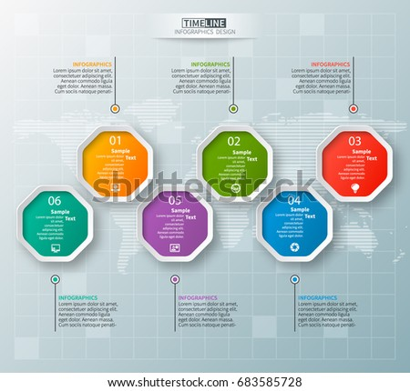 Stock Vector Vector Abstract D Paper Infographic Elements Octagon Infographics on Boxing Steps Diagram