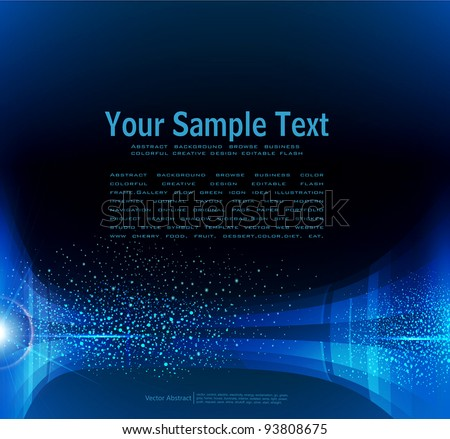 vector abstract dark blue background - stock vector