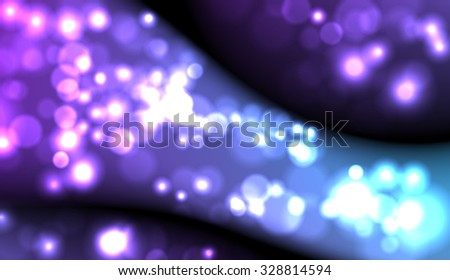 Vector abstract dark blurred lights background. Water drops.