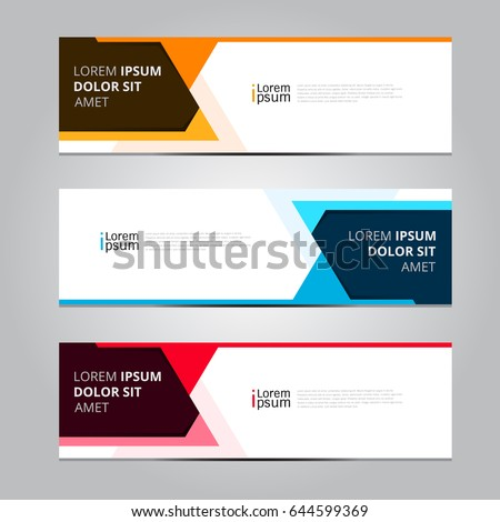 vector abstract design banner templateのベクター画像素材 644599369