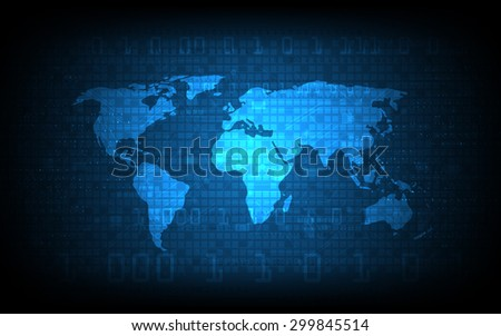 vector abstract digital globe world map background