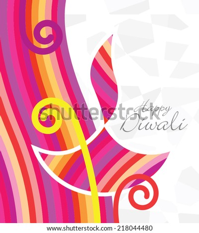 Vector Abstract Diwali Design - stock vector