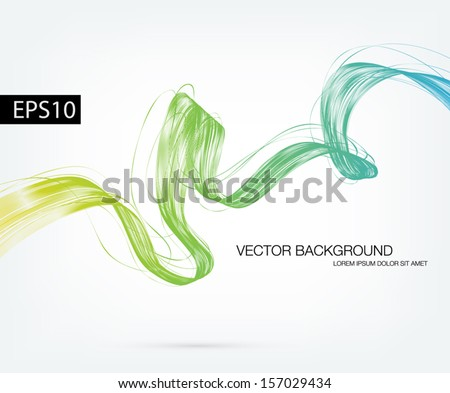 Vector abstract dynamic ribbon wave background - stock vector