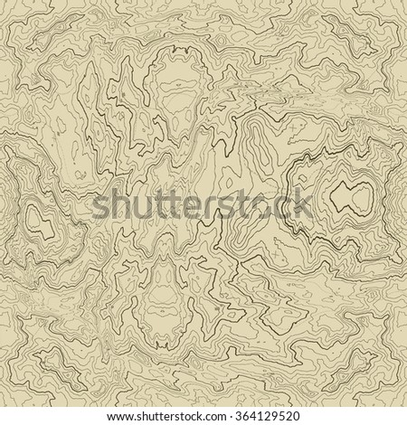 Vector abstract earth relief map seamless pattern element. Generated conceptual elevation map. - stock vector