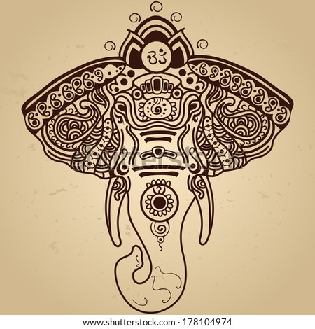 Elephant drawing Stock Vectors Royalty Free Elephant