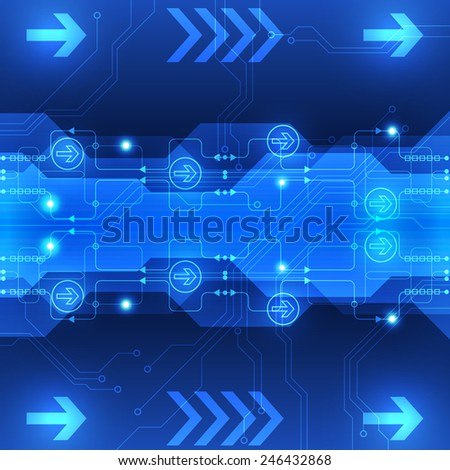 vector abstract engineering future technology background innovation - stock vector