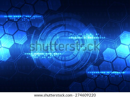 vector abstract engineering future technology, telecom background - stock vector
