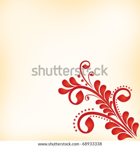 vector abstract floral  background with stylized flowers for design - stock vector