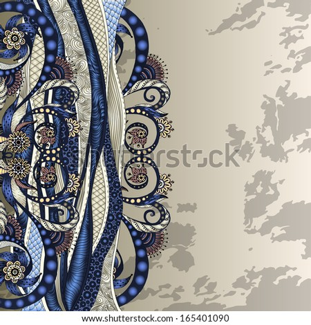 Vector abstract floral decorative background. - stock vector