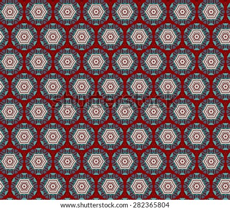 Vector Abstract Floral Seamless Pattern - stock vector