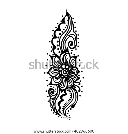 Vector abstract flowers on white background