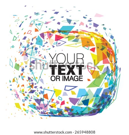 Vector abstract frame of particles for your text - stock vector
