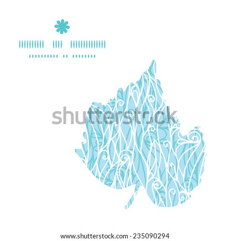 Vector abstract frost swirls texture leaf silhouette pattern frame