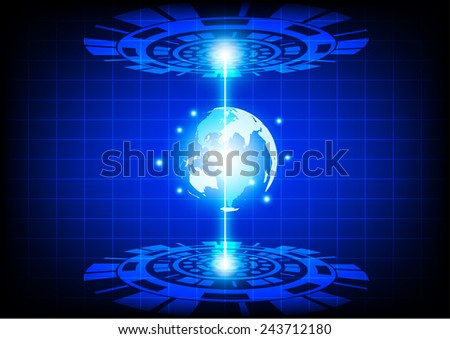 vector abstract future technology - stock vector