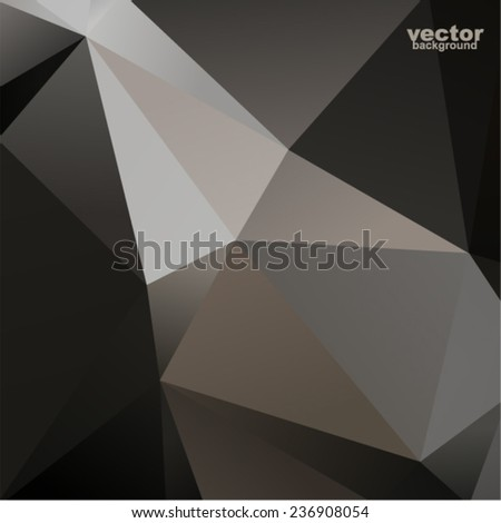 Vector abstract geometric background (brilliant form of paper) - stock vector