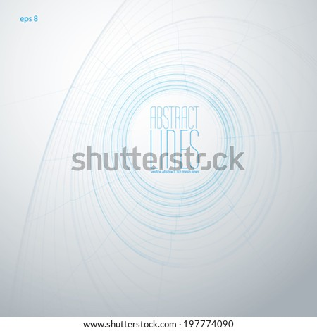Vector abstract geometric background, contemporary style illustration, clear eps 8 vector. - stock vector