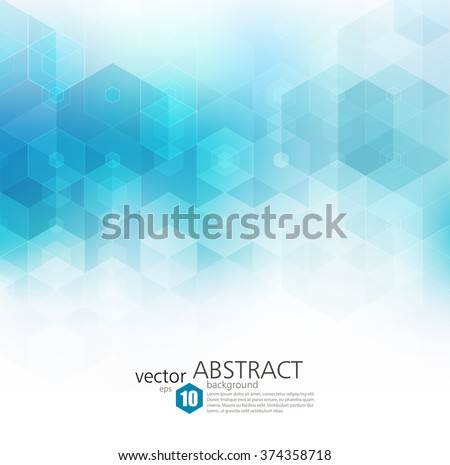 Vector Abstract geometric background. Template brochure design. Blue hexagon shape