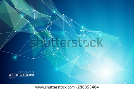 Vector Abstract Geometric Background. Triangular design.  - stock vector