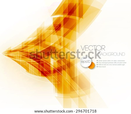 Vector Abstract Geometric Background. Triangular design. EPS 10 - stock vector