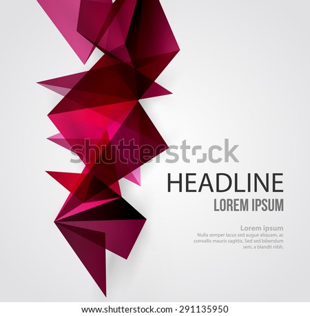 Vector Abstract Geometric Background. Triangular design. Low poly abstraction - stock vector