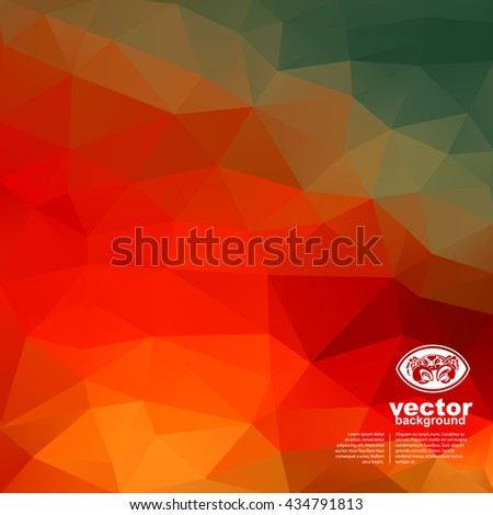 Vector abstract geometric background with crab