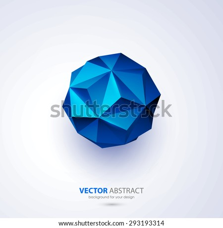 Vector abstract geometric background with triangles design elements - stock vector
