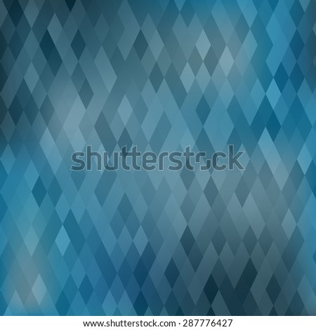 Vector Abstract Geometric Blue Background. Abstract Blue Pattern.