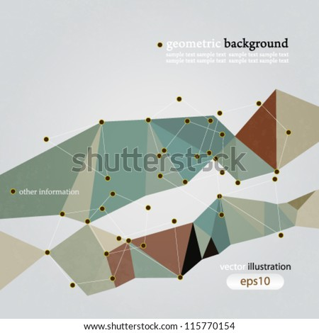 Vector abstract geometric network connection concept  background - eps10 - stock vector