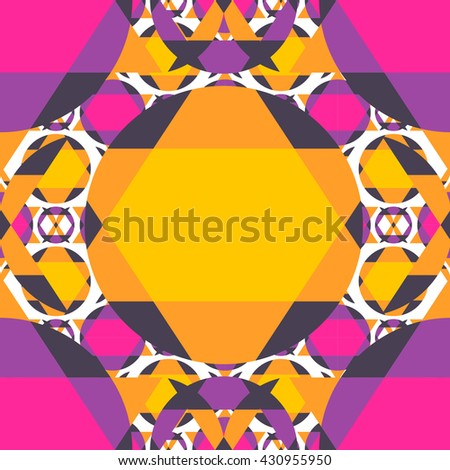 Vector abstract geometric seamless pattern background