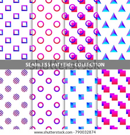 Vector Abstract Geometric Seamless Pattern Design Collection Decoration Web