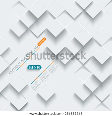 Vector Abstract geometric shape from gray cubes.  - stock vector