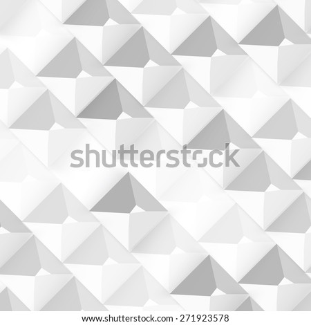 Vector Abstract geometric shape from gray cubes. White pyramides - stock vector