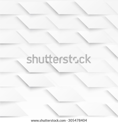 Vector Abstract geometric shape from gray diagonal romb. White  - stock vector